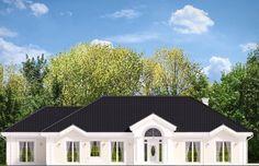 Projekt domu dwurodzinnego Rezydencja Parkowa 4 (609) - elewacja 1