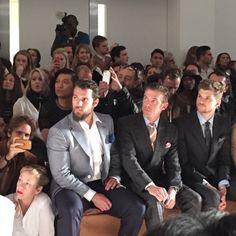 Henry Cavill & Dan Stevens at the Dunhill GQ fashion show, London 2015