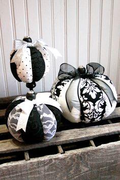 Fabric Halloween Pumpkins