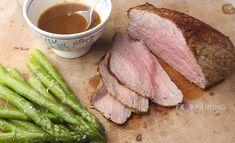 Roast beef - asparagus - coffee - vanilla