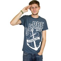 Derbe T-Shirt Dockside navy melange
