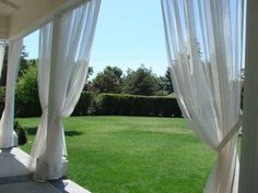 Mosquito Netting Curtains, for the deck