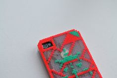 iPhone cover-neon-hama perler-diy