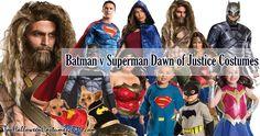 Batman v Superman Dawn of Justice Halloween Costumes: Batman, Superman, Wonder Woman, Aquaman