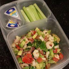 Lunch #14: Avocado Shrimp Salad   this looks edible