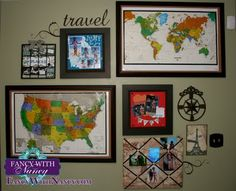 Our Travel Wall - Places we want to go and places we will go!