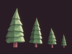 Some Lowpoly Fir Trees. #3d #lowpoly #blender3d #unity3d #b3d #u3d #gamedev #indiedev #firtree #tree