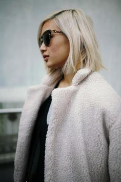 Great hairdo - the blonde is the perfect colour and the cut can be tousled into waves