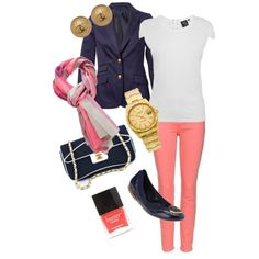 Kate Middleton Colored Jeans, created by cara-k-foley on Polyvore