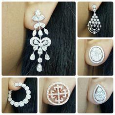 New arrival Diamonds earring Small Earrings, Cute Earrings, Gemstone Earrings, Ring Earrings, Diamond Earing, Diamond Pendant, Jewelery, Men's Jewellery, Diamond Jewellery