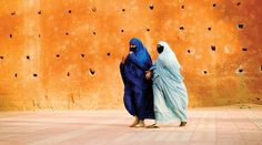 Moroccan photo expedition with National Geographic, burka women