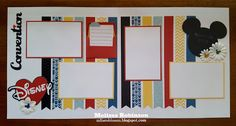 Heartfelt Sentiments: Convention Roomie Layout Made from Fundamentals Birthday Scrapbook, Wedding Scrapbook, Baby Scrapbook, Scrapbook Cards, Disney Scrapbook Pages, Scrapbook Sketches, Scrapbook Page Layouts, Scrapbook Designs, Scrapbooking Ideas