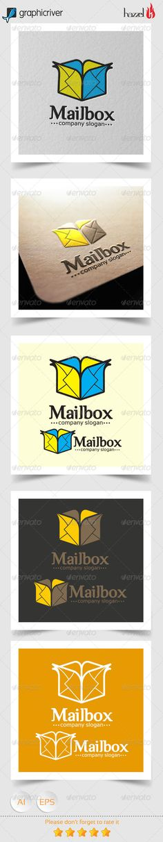 Mail Box  - Logo Design Template Vector #logotype Download it here: http://graphicriver.net/item/mail-box-logo/8207577?s_rank=1138?ref=nesto
