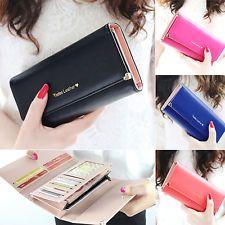 SALE 6% (5.3$) Women Lady Vogue Faux Leather Clutch Long Purse Card Coin Wallet Handbag Bag
