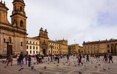 Bogota, Colombia - Plaza Bolivar Classical Spanish Colonial Architecture stock photo