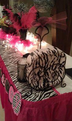 """Photo 1 of Zebra & Hot Pink / Birthday Birthday party"""" Cheetah Party, Zebra Party, Safari Party, Pink Parties, Slumber Parties, 13th Birthday Parties, 13 Birthday, Birthday Photos, Birthday Ideas"""