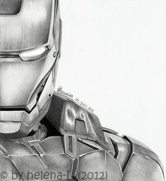 The world's best photos of avengers and pencil · avengers tony stark drawings: iron man by helena-l on deviantart Tony Stark, Art Drawings Sketches, Cartoon Drawings, Marvel Art, Marvel Comics, Avengers Drawings, Iron Man Art, Man Sketch, Art Anime