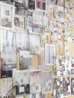 TOUCH this image: Dans le bureau d'Aurélie, toutes ses inspirations du moment. by The Socialite Family
