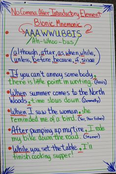 Introductory Phrases with AAAWWUBBIS, Lesson, Stations, Games ...