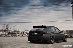 Subaru STi Matte Black - I love the wheels!