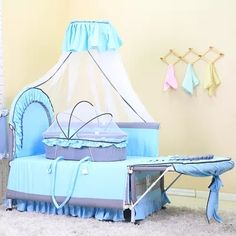 8794ae02d2 Multi-función de bebé cama mesa vibradora cama plegable cama para niños  cuna cama portátil redes
