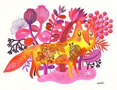 Sunshine Fox...  limited edition giclee print of an by helendardik