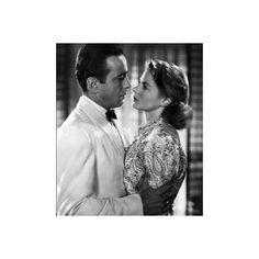 Ingrid Bergman e Humphrey Bogart - Casablanca ❤ liked on Polyvore featuring photo, people and celebrities