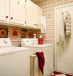 Organizing the laundry room -- lots of great ideas for every type of laundry room.