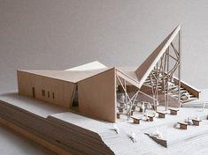 Troll Wall Restaurant by Reiulf Ramstad Architects Maquette Architecture, Architecture Student, Architecture Drawings, Concept Architecture, Architecture Design, Architecture Models, Archi Design, 3d Modelle, Arch Model
