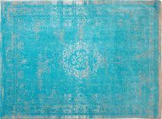 #Vintage-Teppich Orient-Muster | gefärbt gewebt | #Aqua #Türkis #wohnzimmer #esszimmer #wohnen #arbeitszimmer #schlafzimmer #diele #www.musterkollektion.de