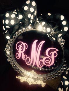 Mirror monogram $25