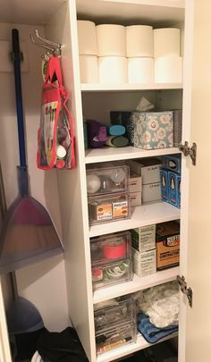 organized utility closet by laura cattano.