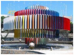 Artists' Birthdays: May the 11th – Yaacov Agam (1928) | Fire and Water Fountain, Dizengoff Square, Tel Aviv |  decorartuk