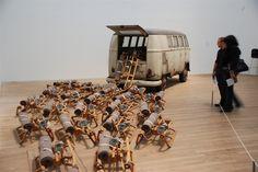 """Joseph Beuys, """"The pack (Das Ruel)"""", 1969, conceptual art"""