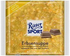RITTER SPORT Fake Schokolade Erbsensuppe