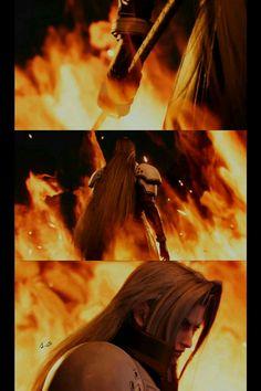 Sephiroth in ffvii remake Final Fantasy Vii Remake, Fantasy Series, Character Aesthetic, Character Design, Tetsuya Nomura, Vincent Valentine, Sora Kingdom Hearts, Great Videos, Oras