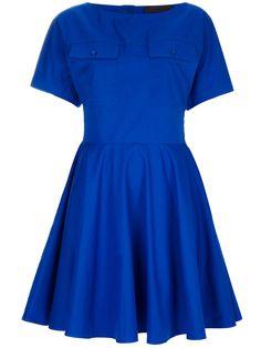 Jo No Fui bright blue dress from farfetch.com #vegan