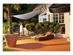 Balkon - Elegante Balkonfliese Terra-TEC hier als Terrassenboden in terracotta