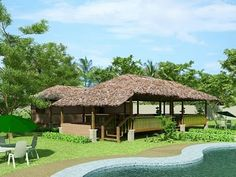 Traditional Bahay Kubo Home Design Ideas in Philippines Modern Bungalow House Design, Modern Tropical House, Tropical House Design, Bungalow Homes, Bungalow House Plans, Tropical Houses, Bahay Kubo Design Philippines, Bamboo House, 3d Warehouse