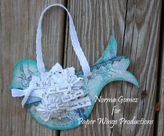 Christmas Ornaments using Paper Wings Productions stamps.