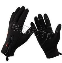 LOT 10 Promotions  Snowboard Windproof   Warm Unisex Thin Thermal  Motorcycle Bike Bicycle Outdoor Sports Gloves Black size XL