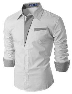 Doublju Mens Casual Pin stripe Patched Pocket Slim Dress Shirts WHITE (US-XS) Doublju,http://www.amazon.com/dp/B009VPN4M6/ref=cm_sw_r_pi_dp_O2trtb0J99M13T18