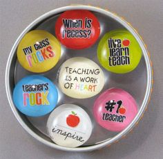 teacher appreciation ideas | DIY Glass Teacher Appreciation Magnets