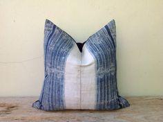 Vintage Homespun Hemp Batik Hand Woven Pillow by orientaltribe11, $70.00