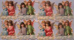 L & B 6452 Weihnachten Engel Oblaten Glanzbilder Stammbuchbilder Die Cut Scrap | eBay