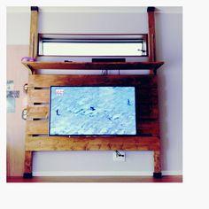 いいね!20件、コメント7件 ― @yokko0211のInstagramアカウント: 「. DIYday④  テレビの壁掛けパーツをネット注文していたのが届いたので取り付け  テレビボードというのかな?  上の棚にレコーダーを乗せて 子供たちのイタズラ対策  初DIY完成です☆…」