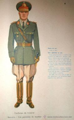 1947 Argentine Army general officers' service dress uniform