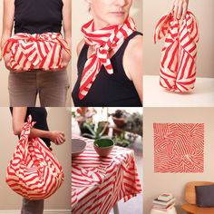 Furoshiki is the ancient japanese art of what you can do with a square piece of cloth: fold and knot it into pretty gift wraps, handy bags, carry case for your books or bento box and of course you can use it as a  napkin, tablecloth, scarf and decorative wall hanging.