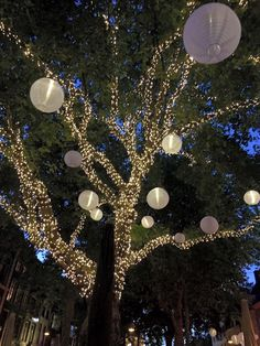 Instead of paper lanterns, use our nylon fabric solar lanterns to get this look, perfect for outdoor wedding lighting or holiday lights. LED lighting and reusable decorating make this beautiful and eco-friendly. Get lanterns at https://allsopgarden.com/product-category/solar-lanterns/soji-solids/