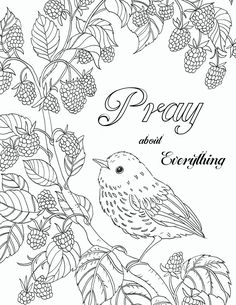 Pray About Everything free printable Bible verse coloring page. Jesus Coloring Pages, Bible Verse Coloring Page, Free Adult Coloring Pages, Free Printable Coloring Pages, Colouring Pages, Coloring Books, Coloring For Adults, Free Coloring Pictures, Free Coloring Sheets